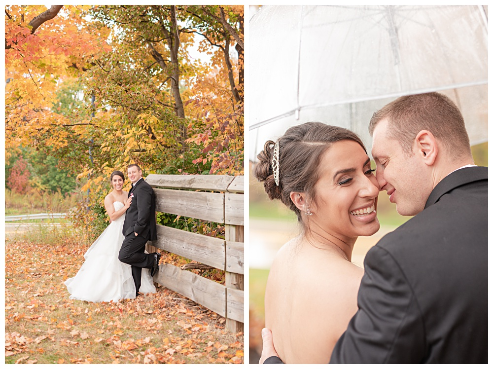 rainy October wedding