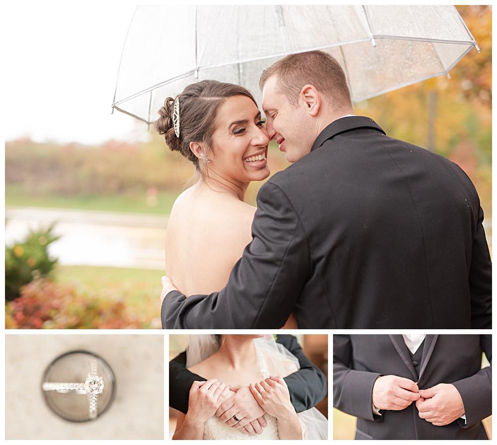 Rainy October wedding, Noah's Even Venue, Mentor Ohio
