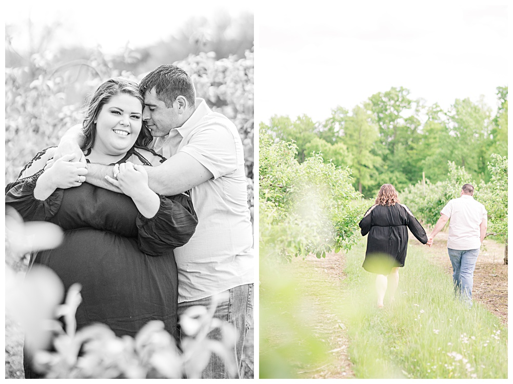 Sammi and Dave, engagement session, orchard hills park