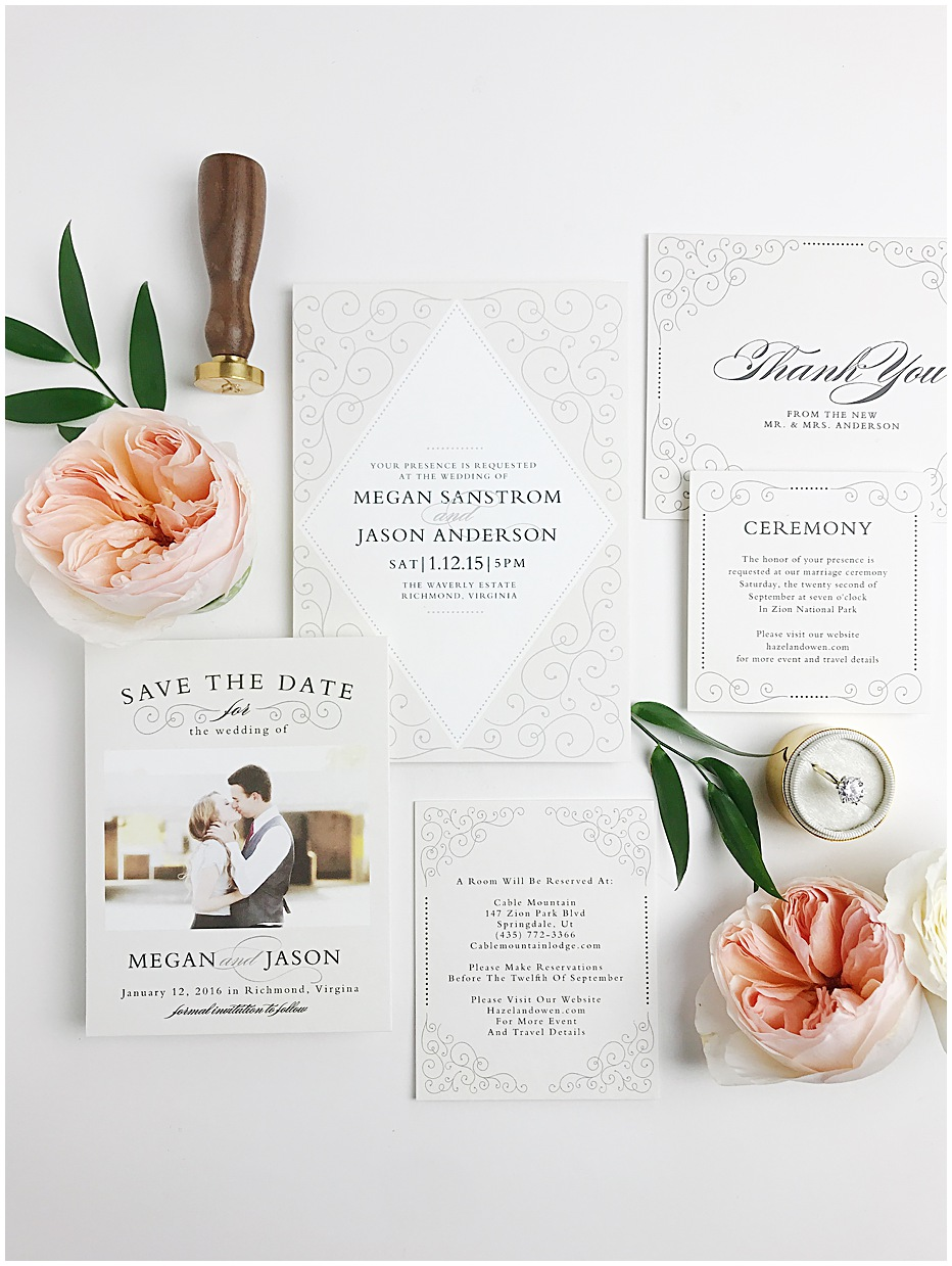 save the date wedding cards basic invite